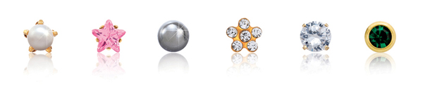 Large selection of piercing studs with the most stylish designs