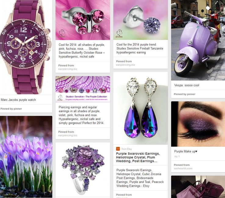 Earring Trends 2014: #3 The Color Purple